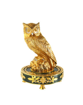 Металическая статуэтка совы в подарок