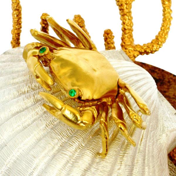 краб золотой в подарок женщине