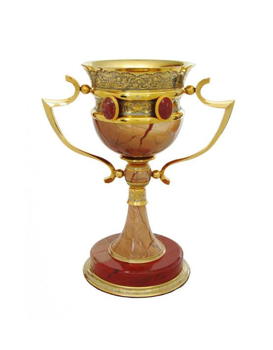 Кубок большой подарочный из яшмы