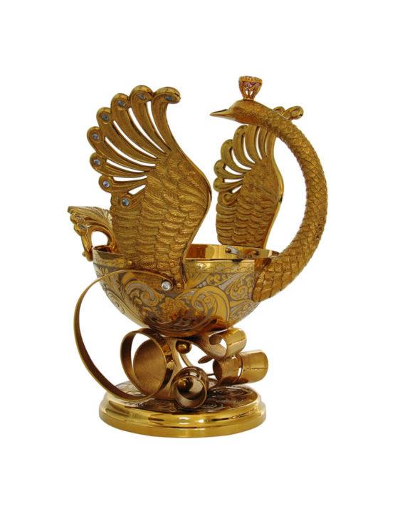Ваза конфетница металлическая в Москве.
