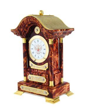 Часы настольные из капа березы
