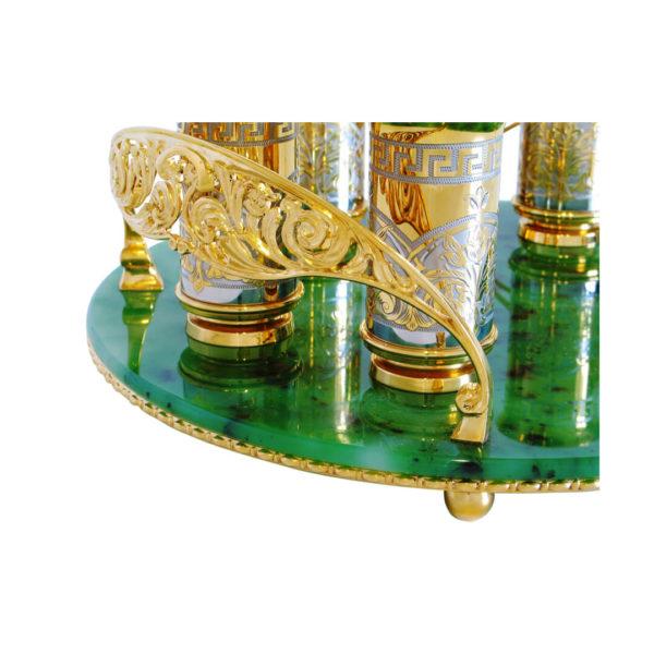 Водочный набор на нефритовом подносе