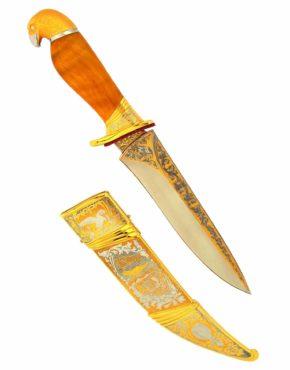 """Нож охотничий коллекционный """"Сокол"""" прекрасный подарок мужчине на юбилей. Клинковое оружие можно приобрести в магазине """"Златон"""""""