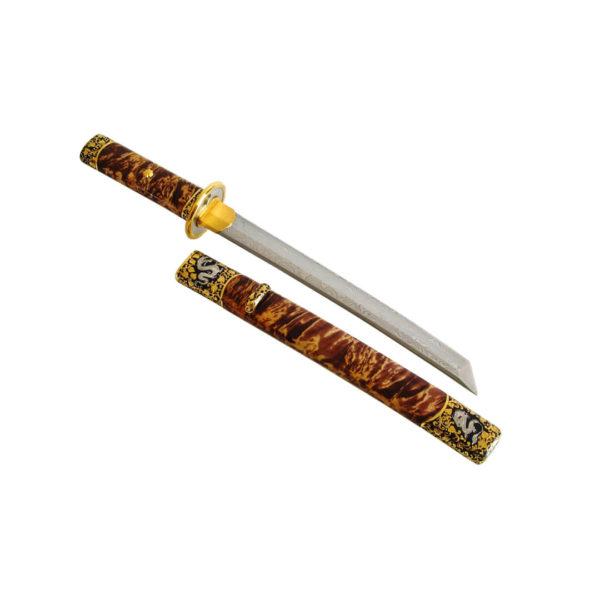 """Кинжал японский танто """"Белый дракон"""" эксклюзивный подарок для мужчины-коллекционера на День рождение"""