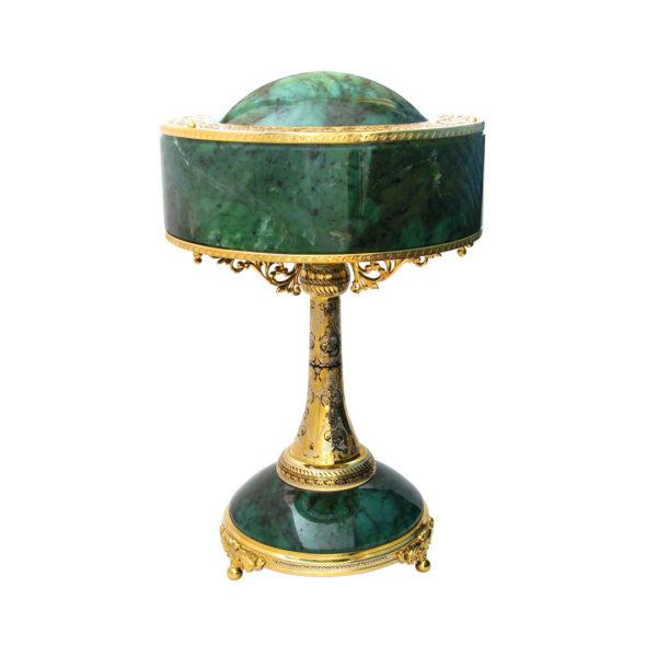 """Лампа настольная для рабочего стола """"Нефритовая"""""""