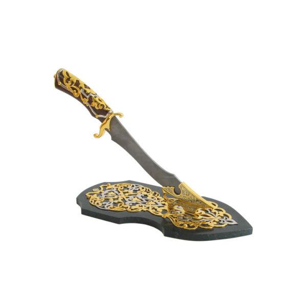 Златоустовский нож из дамасской стали
