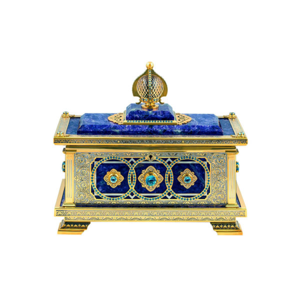 Купить ларец для украшений из лазурита в Москве