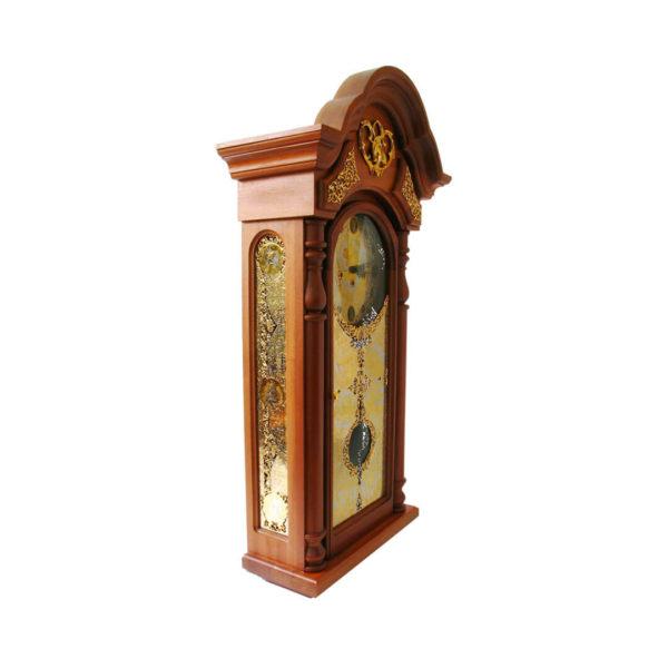 Часы деревянные механические с боем ручной работы