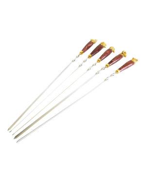 """Шампуры """"Подарочные"""" с деревянной ручкой-850 мм."""