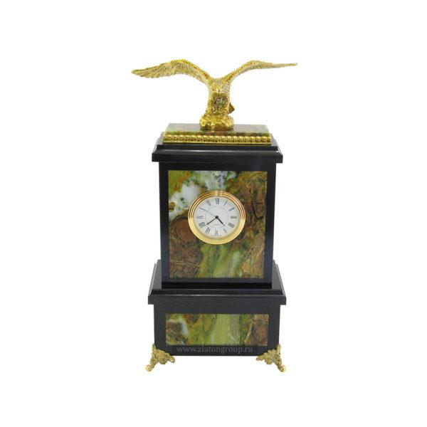 Часы настольные с бронзовым орлом