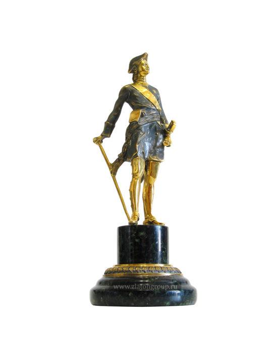Статуэтка Пётр 1 из бронзы