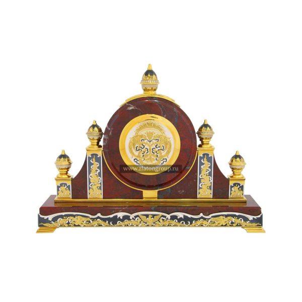 Часы каминные из яшмы