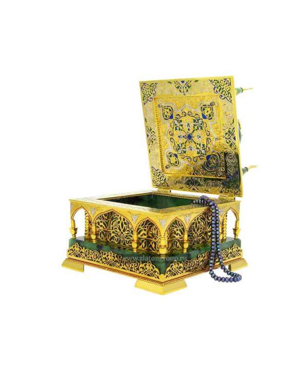 Шкатулка Мечеть из камня нефрит