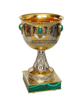 Кубок подарочный на малахите