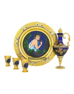Набор для ликёра из богемского стекла