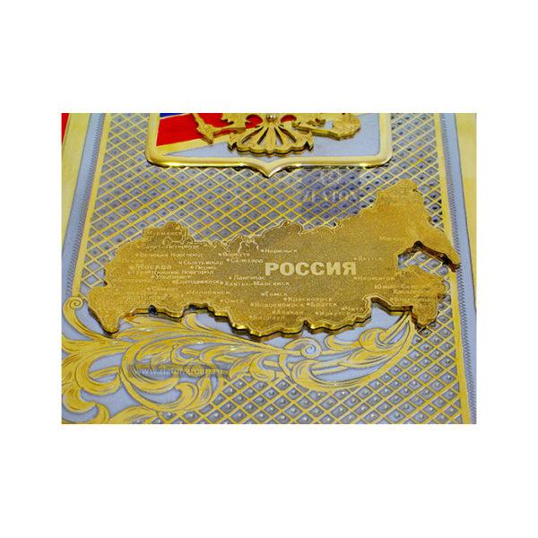 Карта России металл