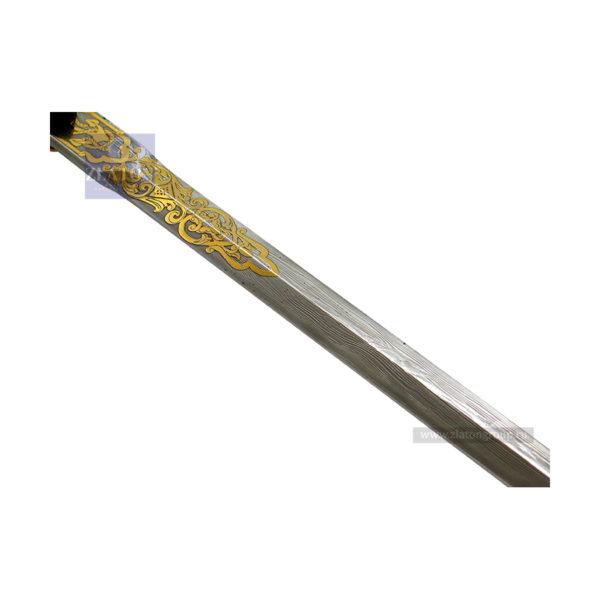 Кортик дамасская сталь