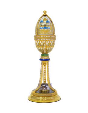 Яйцо пасхальное с иконой-складнем Златоуст